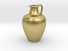 1/12 Scale Vase in Natural Brass