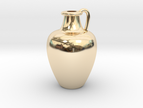 1/12 Scale Vase in 14K Yellow Gold