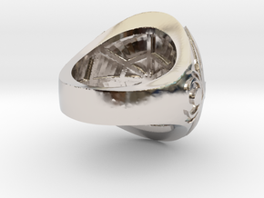 Ring award - capitola engraved in Platinum