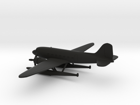 Douglas DC-3 (with floats) in Black Natural Versatile Plastic: 6mm