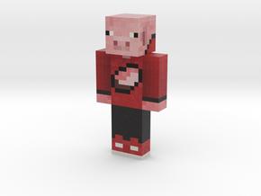 BostPig3D | Minecraft toy in Natural Full Color Sandstone