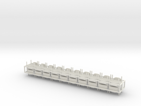 1:24 Stacking Plastic Waiting Chair in White Natural Versatile Plastic