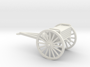 1/72 Scale 3 Inch Gun Caisson M1916 in White Natural Versatile Plastic