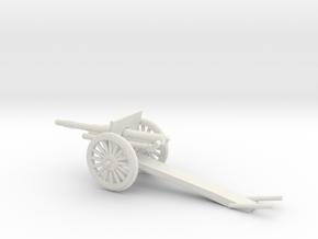 1/72 Scale 4.7 Inch Gun Carriage M1906 in White Natural Versatile Plastic