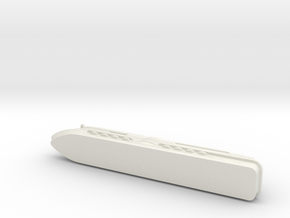 Miniature Mardi Gras Cruise Ship - 10cm in White Natural Versatile Plastic