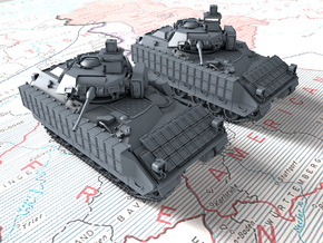 1/160 (N) US M2A3 Bradley APC x2 in Smooth Fine Detail Plastic