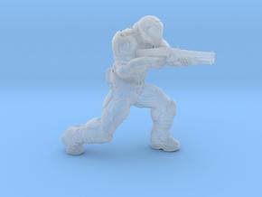 doomguy doom slayer 28mm heroic scale with shotgun in Smooth Fine Detail Plastic