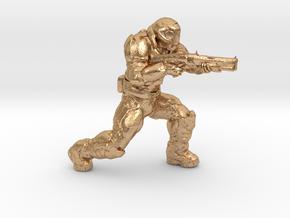 doomguy doom slayer 28mm heroic scale with shotgun in Natural Bronze