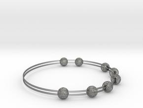 voronoi bracelet (1) in Natural Silver (Interlocking Parts)