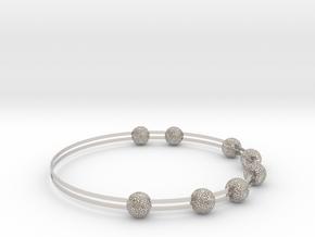 voronoi bracelet (1) in Rhodium Plated Brass