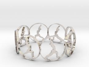 yoga bracelet in Rhodium Plated Brass