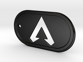 Apex Legends Icon Dogtag in Matte Black Steel