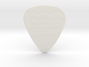 Raw Pick Waves Guitar Pick 1mm in White Natural Versatile Plastic