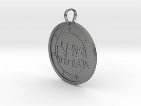 Kimaris Medallion in Natural Silver