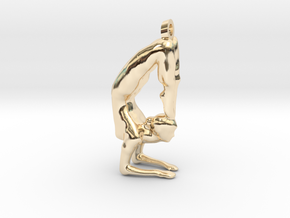 yoga jewelry - Vrischikasana in 14K Yellow Gold