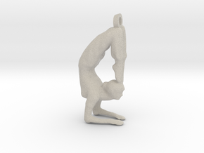 yoga jewelry - Vrischikasana in Natural Sandstone