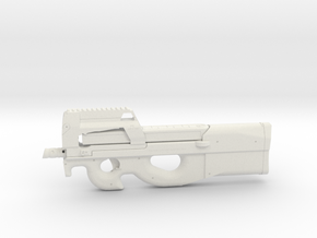 1:12 Miniature FN P90 in White Natural Versatile Plastic: 1:12