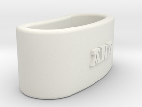 ANA 3D Napkin Ring with lauburu in White Natural Versatile Plastic
