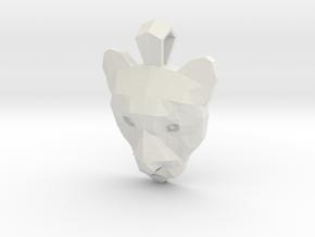 GeoMetric Puma Pendant in White Natural Versatile Plastic