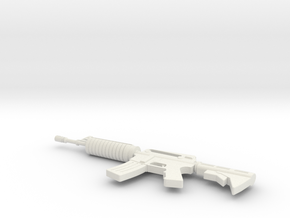 Miniature M60 Machine Gun in White Natural Versatile Plastic: 1:12