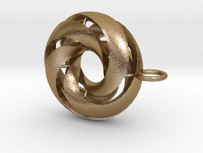 marine in Polished Gold Steel: Medium