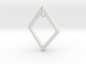 Diamond Charm Frame in White Natural Versatile Plastic