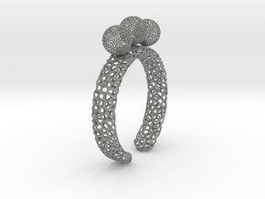 voronoi fidget ring. Size 7 18.92 mm with three sp in Gray PA12