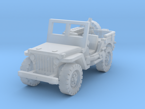 Jeep with Mortar scale 1/87 in Smooth Fine Detail Plastic