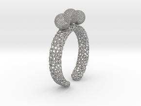 Voronoi fidget ring. Size 5 17.58 mm with three sp in Aluminum