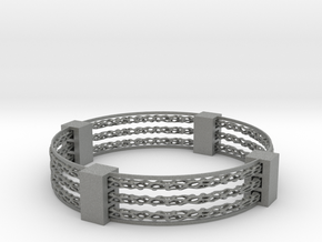 Voronoi spinner bracelet in Gray PA12