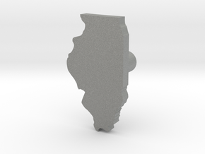 Hole Plug 0006 - Illinois in Gray PA12