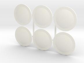 DIMITRIS 12. CRETAN SHIELDS in White Processed Versatile Plastic