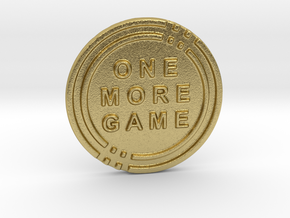 One More Game Decision Coin in Natural Brass