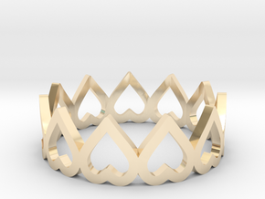 hearth crown ring size 4.5 in 14k Gold Plated Brass