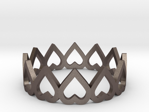 hearth crown ring size 6 in Polished Bronzed-Silver Steel