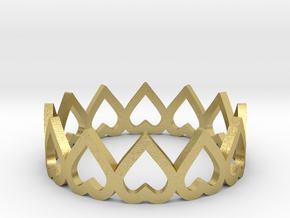 hearth crown ring size 6 in Natural Brass