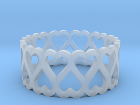 heart symmetric ring size 5 in Smoothest Fine Detail Plastic