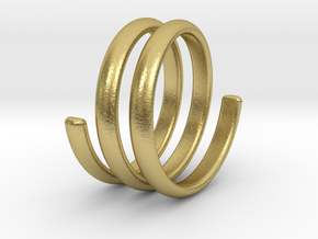 spring ring size 5.5 in Natural Brass