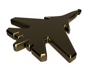 Jet Pendant in Polished Bronze