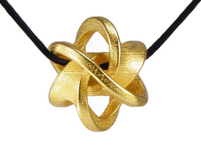 Soliton Pendant in Polished Gold Steel