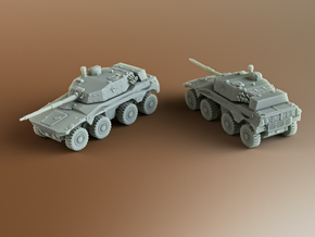 Rooikat 76 South African armoured Scale: 1:160 in Smooth Fine Detail Plastic