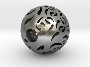 Hollow Sphere 2 in Natural Silver