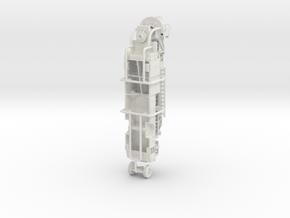 1/87 Pierce Tiller Body Compartment Doors V1 in White Natural Versatile Plastic