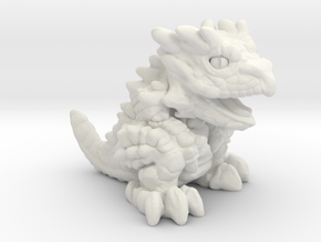 "Chompy the Dragon Hatchling (1"") in White Natural Versatile Plastic"