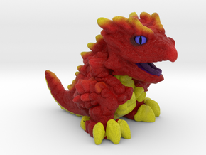 "Chompy the Dragon Hatchling (1"") in Natural Full Color Sandstone"