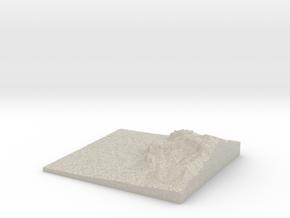 Model of The Flatiron in Natural Sandstone
