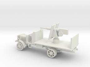 1/100 Scale Liberty Gun Truck in White Natural Versatile Plastic