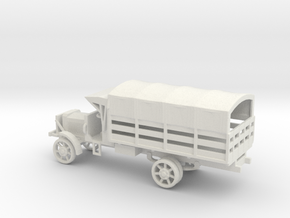 1/100 Scale Liberty Truck Cargo with Cover in White Natural Versatile Plastic
