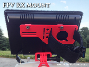 FPV RX mount slim in White Natural Versatile Plastic