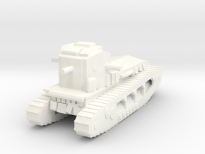 1/100 WW1 Whippet tank (low detail) in White Processed Versatile Plastic